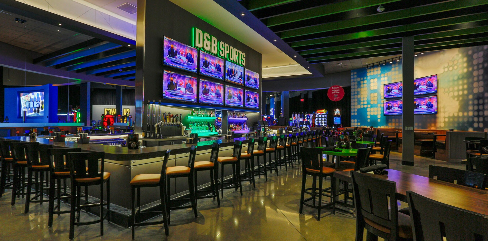 """""""With the success of the Detroit area locations and the growing dining scene in Grand Rapids, it made perfect sense to bring the very best in food, drink, entertainment and sports viewing to West Michigan,"""" said Randy Kerney, General Manager of the new Dave & Buster's location."""